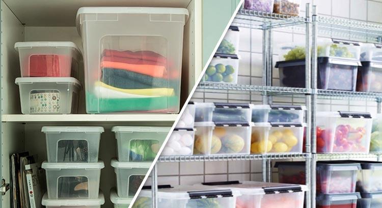 Boîtes de rangement en plastique