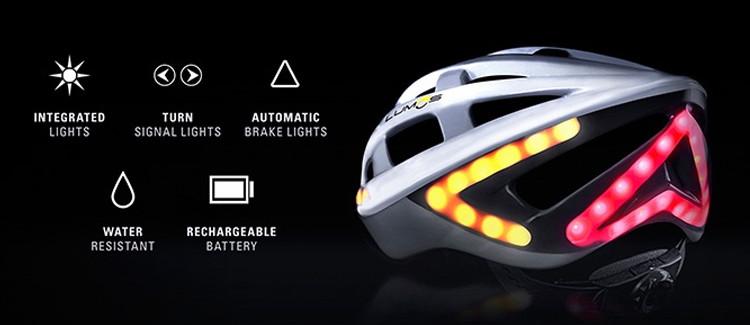 Casque de vélo à LEDs