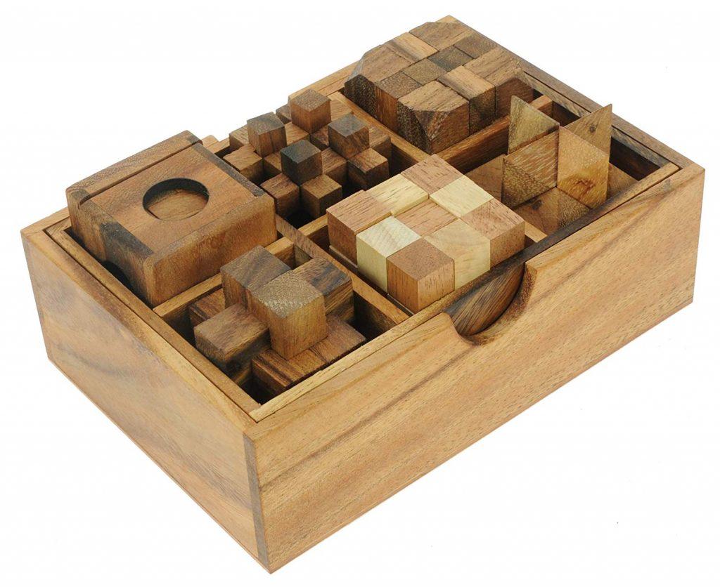 Coffret 6 casse-têtes en bois