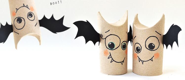 D coration halloween en papier - Deco halloween chauve souris ...