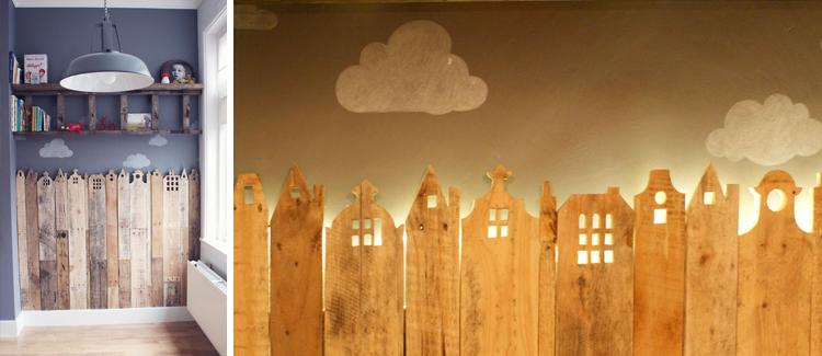 D corer une chambre d 39 enfant avec des palettes les for Deco avec palettes bois