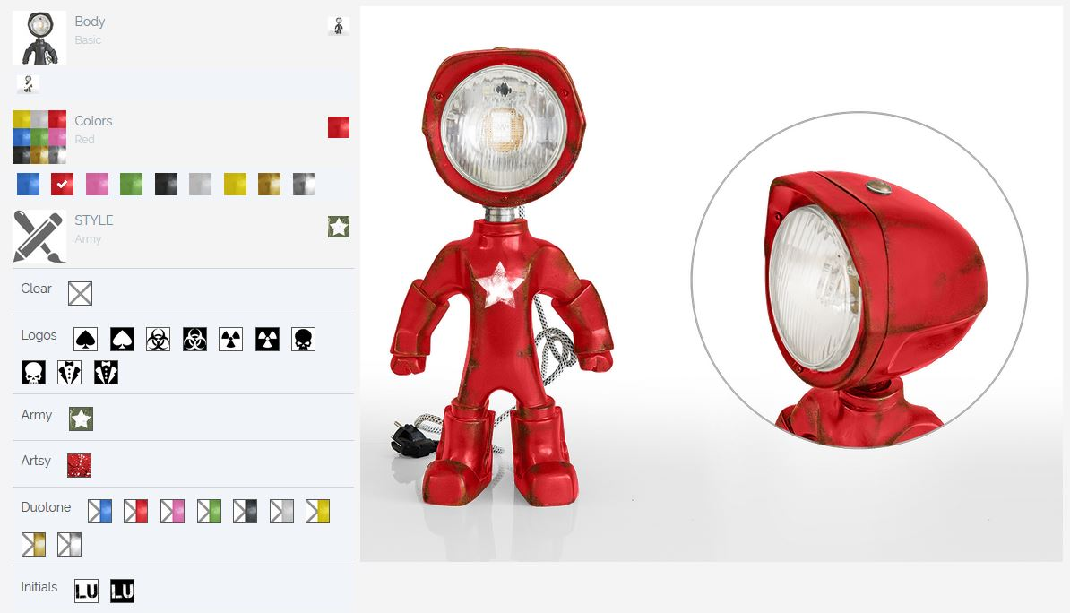 Configurateur lampster