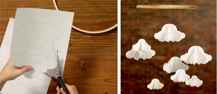 mobile bebe nuage