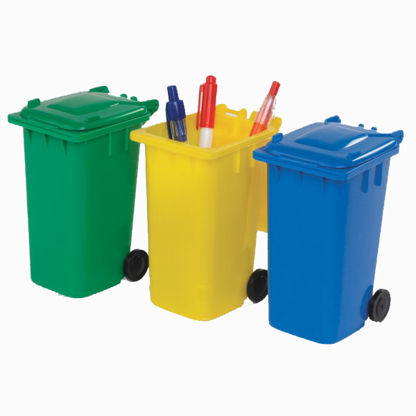 Porte crayon en poubelle
