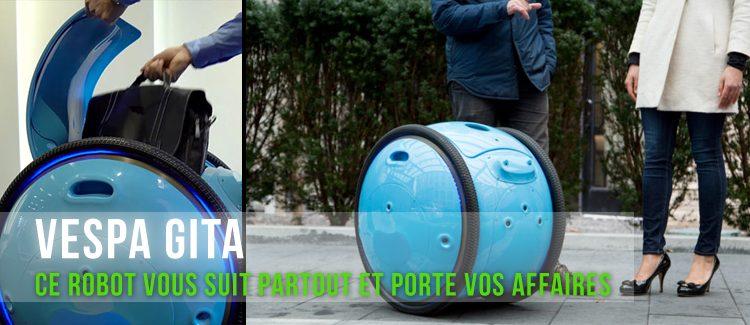 Vespa Gita, un robot pour transporter vos affaires