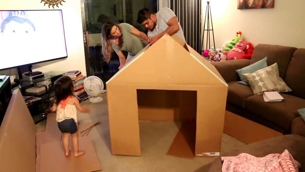 Cabane En Carton Diy fabriquer une cabane en carton. vos enfants vont adorer